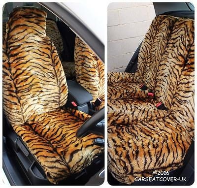 VW Golf-Oro Tigre Piel Sintética Peludo cubiertas de asiento de coche-Conjunto Completo