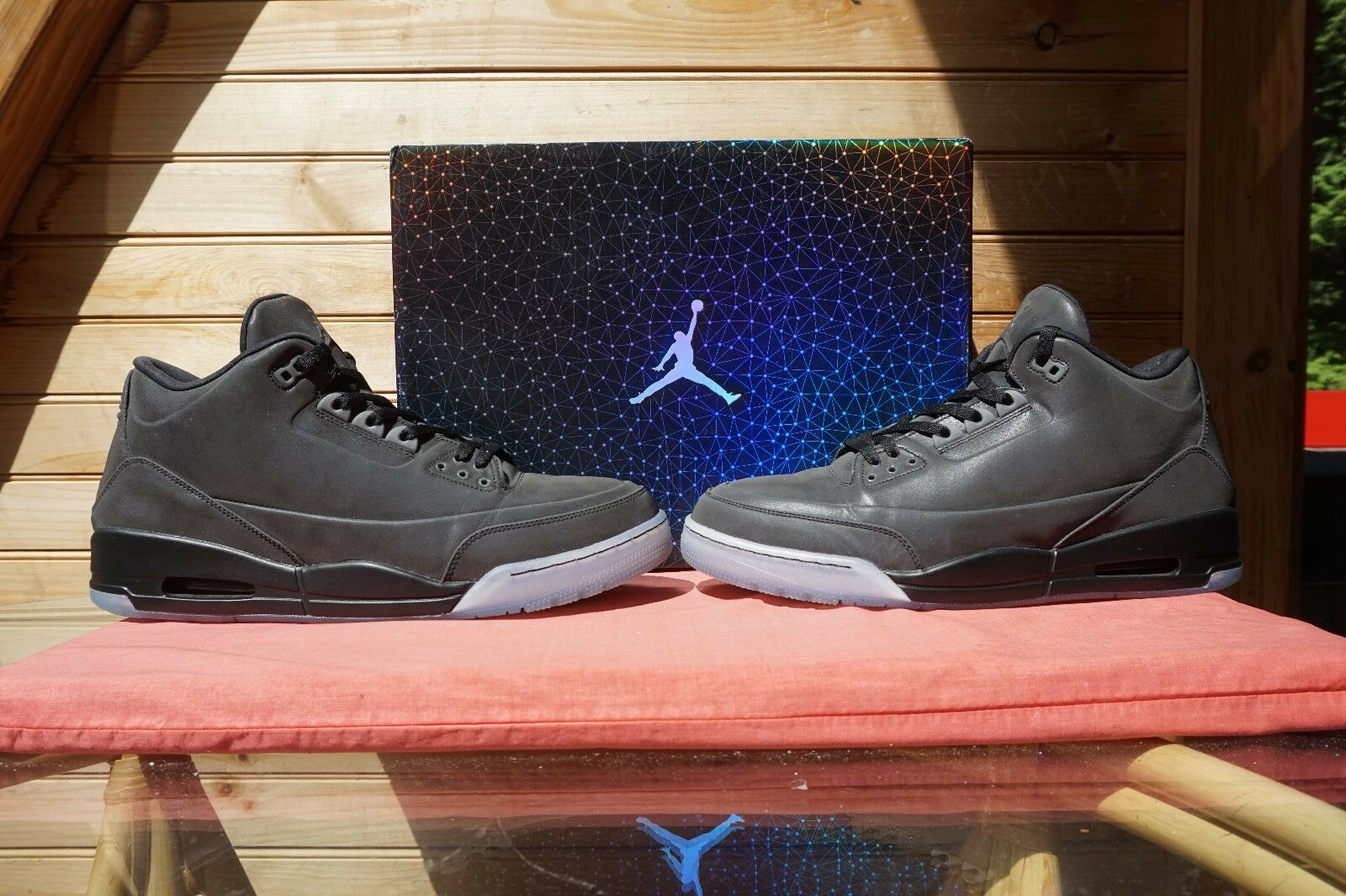 2014 Nike Air Jordan 5LAB3 Black Clear Sz 14 (4626) 631603-010