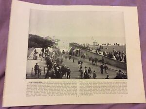 Antique-Book-Print-Clacton-On-Sea-OR-Clovelly-UK-c-1895