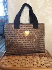 moschino large monogram tote bag