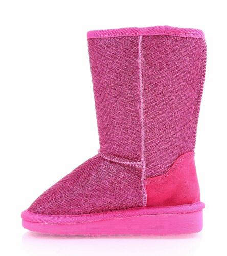 4 Color Slip On Casual Blink Kids Shoes Girls Youth Size Faux Fur Interior Boots