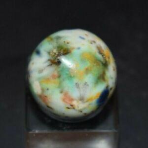 Extremely-Rare-Antique-Glazed-Stoneware-Marble-Shooter-Size-750-MINT