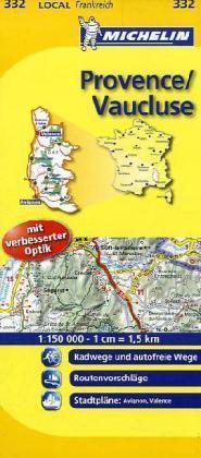 MICHELIN - Michelin Provence - Vaucluse: Straßen- und Tourismuskarte '