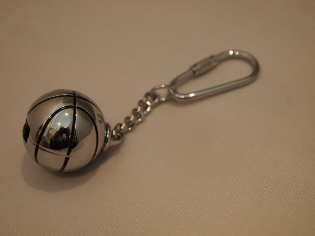 Metal Keychain Basketball Pendant Premium Quality Die-cast chrome Bag