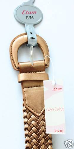NEW WITH TAGS EDAM WOMENS BELTS IN GOLD COLOUR