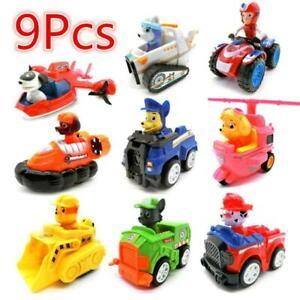 Paw-Patrol-Lot-9pcs-Figurines-Jouet-Pat-Patrouille-Chien-Chat-Voiture-Doll-Set