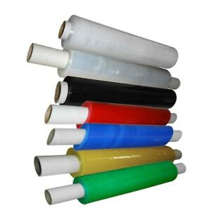 STRETCH CLING FILM EXTENDED CORE 400MM STRONG PALLET SHRINK WRAP BLACK CLEAR