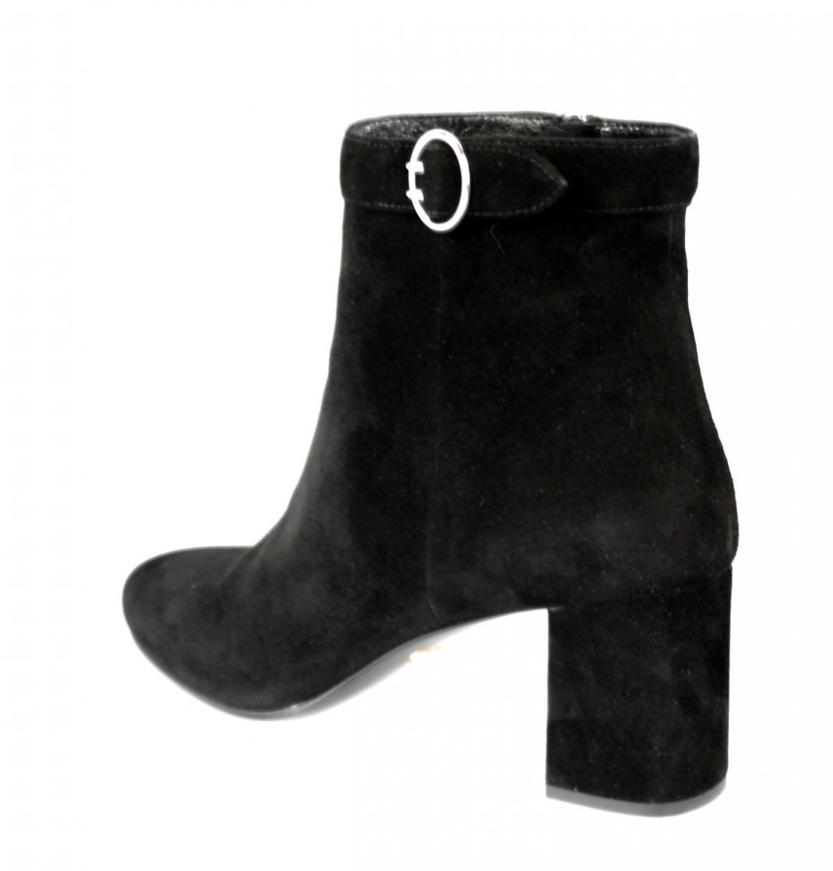 la cheville de luxe prada moitié botte botte botte 1t569e noir nouvelle nib 36 36,5 d2451b