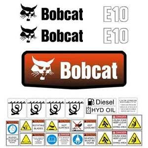 E10-DECALS-E10-Stickers-Bobcat-E10-Decal-STICKER-Kit-Mini-Excavator