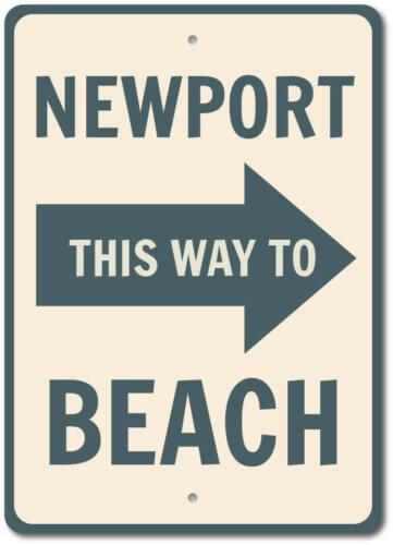 Newport Beach Sign Custom Beach Location Sign ENSA1002927