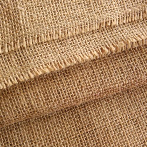 "12oz Luxury Natural Jute Hessian Burlap Fabric Wedding Craft Upholstery 40/"""