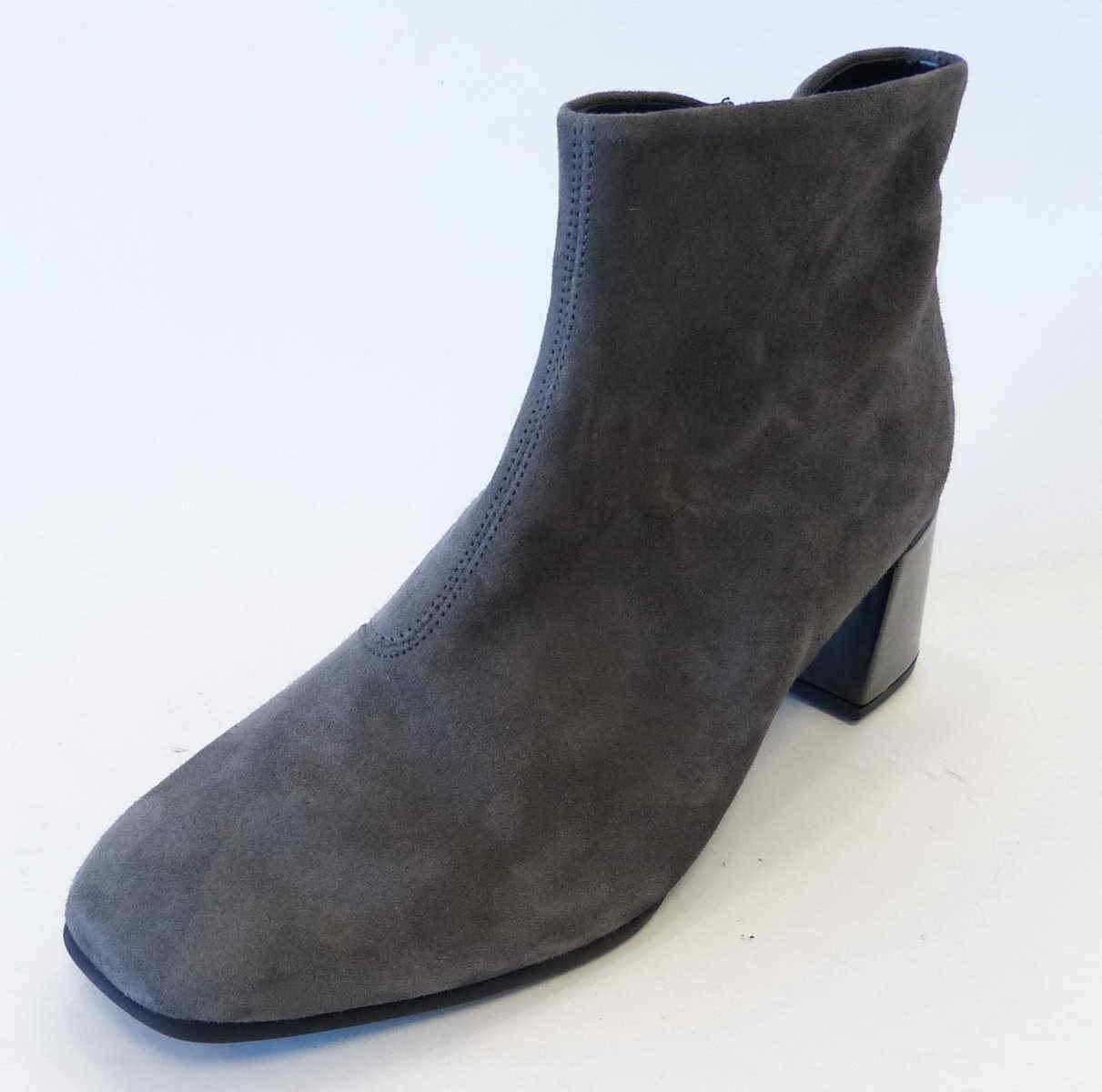 Gabor Stiefelette 860 39 Reißverschluß grau dark Grau Nubuk Leder Reißverschluß 39 Stiefel 098f1a