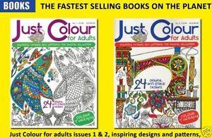 Juste-Couleur-pour-Adultes-2-Livre-Ensemble-Tout-Neuf-Coloriage-Envoi-GB