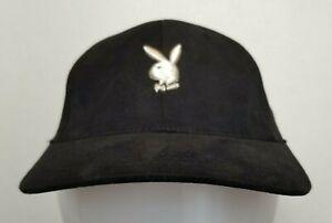 Vintage-Authentic-PLAYBOY-Embroidered-Bunny-Baseball-Cap-Hat-OSFA-EUC