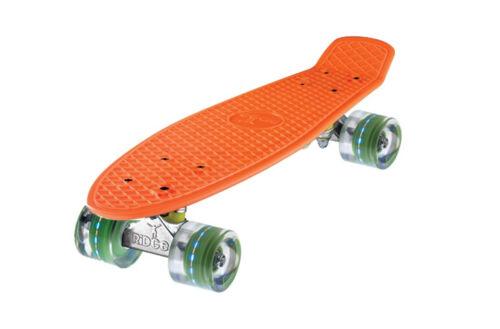 "Ridge 27/"" Mini Cruiser Skateboard With LED Wheels Deck Complete Plastic Board"