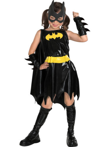 Child Batgirl Outfit Fancy Dress Costume Superhero Official DC Comics Girls Kids
