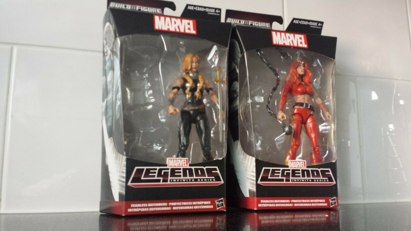 Marvel legends Valkyrie and Thundra Hulkbuster BAF series No BAF parts