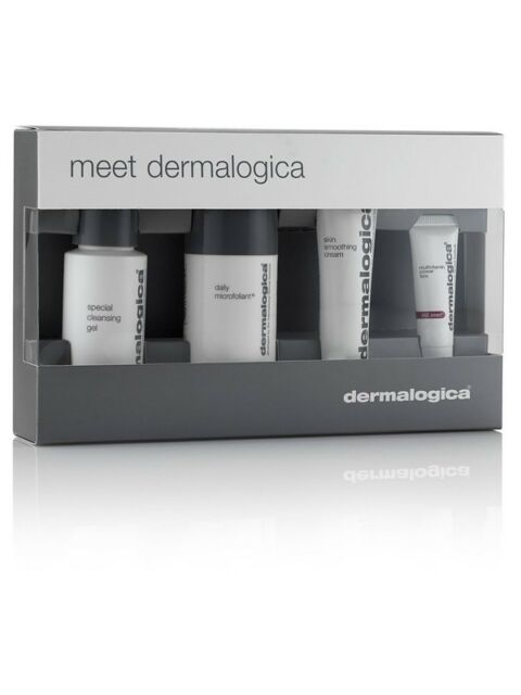 Meet Dermalogica Skin Kit. Cleansing Gel Microfoliant Smoothing Cream Power Firm