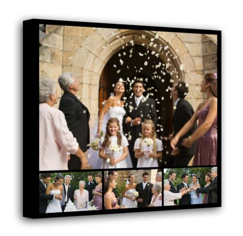 Personalised Framed Canvas Collage Print Photo Image Picture Ready to hang f11