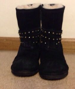 Women's UGG Clovis Black Studded Boots