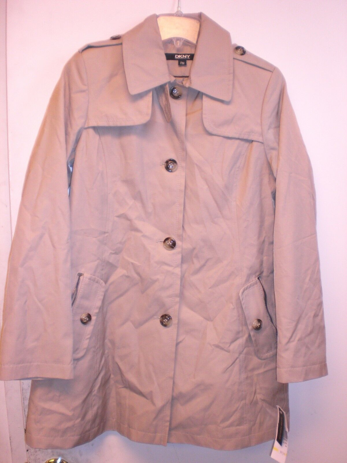 DKNY 06189 SIZE M CAMELTRENCH COAT COAT COAT NEW WITH TAGS MISSING BELT 14c4ef