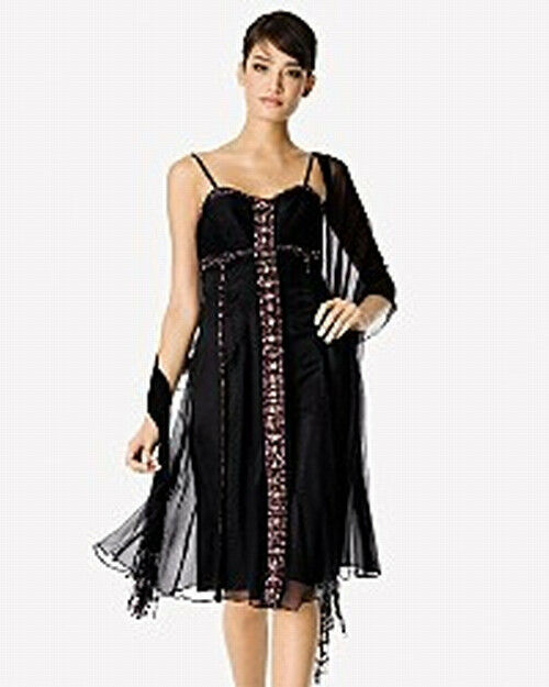 Sue Wong NWT    Jeweled Stone Cocktail Dress 10