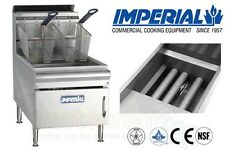 IMPERIAL COMMERCIAL FRYER COUNTER TOP GAS-TUBE FIRED FRY POT PROPANE IFST-25