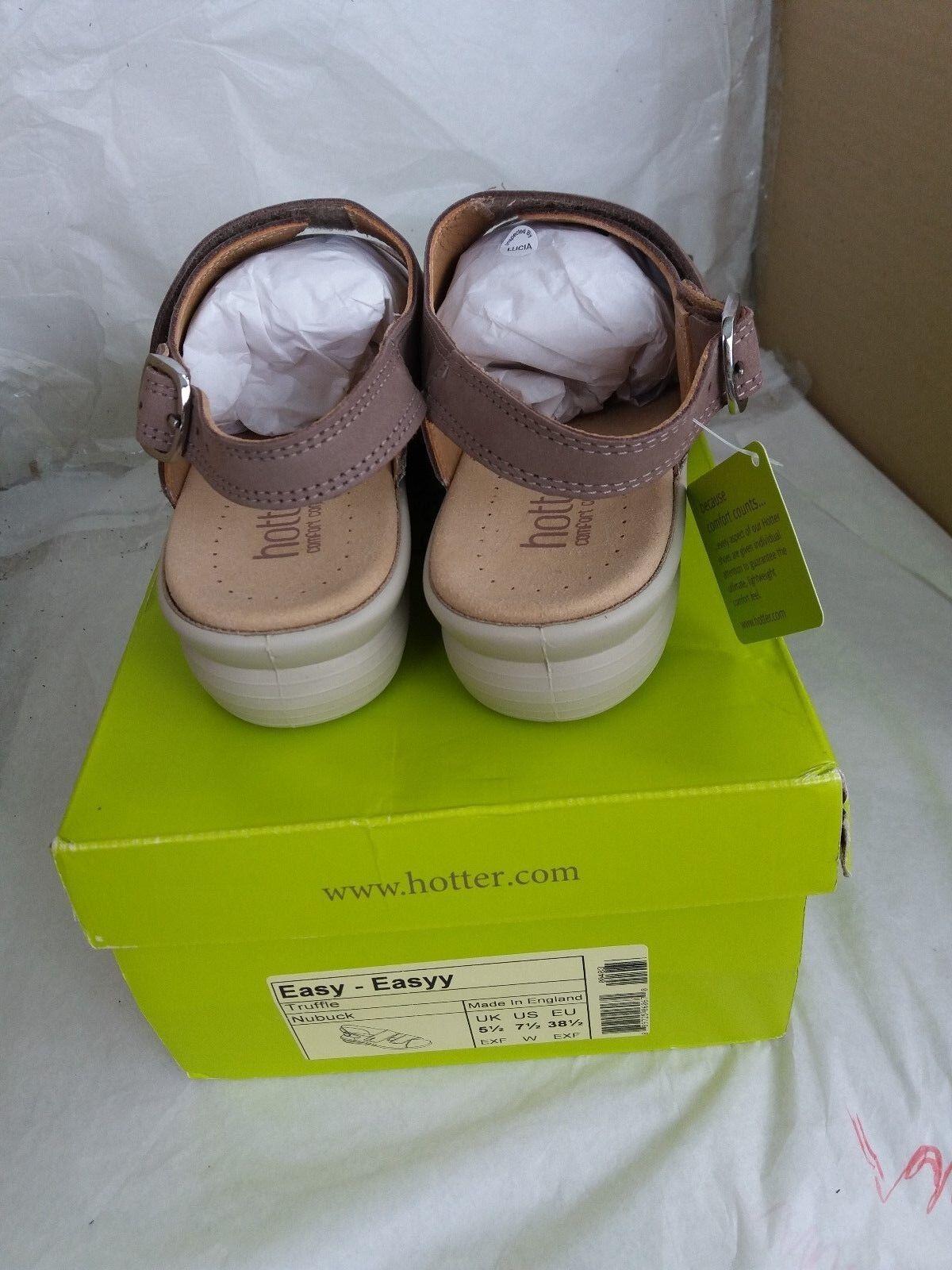 Hotter Sandales Easy Sandales Hotter - Nubuck Upper- Truffle - Größe UK 5.5/EU 38.5 9847bf