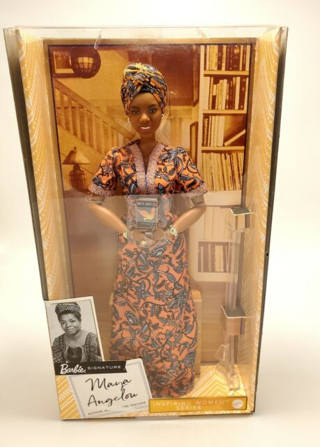 "Barbie Signature Inspiring Women - Maya Angelou 12.75"" Doll (GYH04) Mattel"
