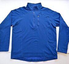 MOUNTAIN HARDWEAR 1/2 Zip Blue Pullover Base Layer LS Shirt Mens L FREE SHIP