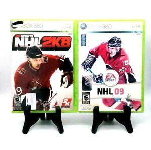 2K Sports NHL 2K8 + EA Sports Bundle NHL 09 Microsoft Xbox 360 No Manual Tested