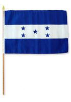12x18 12x18 Honduras Stick Flag Wood Staff