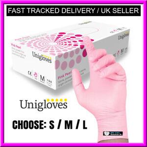 Unigloves Black Pearl Gants en Nitrile Taille S 100 Pi/èces Unigloves nitrile gloves disposable protection