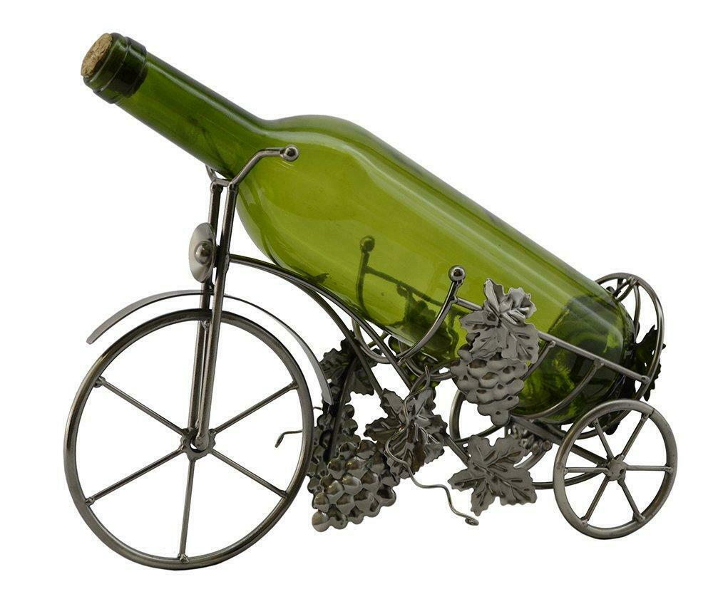 (D) Wine Bottle Holder, Tricycle with Grape, Bar Counter Decoration