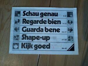 Schau genau, Ravensburger, NUR die Anleitung !!!, bitte lesen