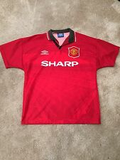 MANCHESTER UNITED HOME SHIRT 1994/96 ADULTS MEDIUM (M) VINTAGE JERSEY UMBRO