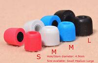 1/2/3 Pairs 4.9mm Earbuds Replacement Ear Tips In Ear Earphone Memory Foam S M L