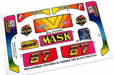 MASK stickers for KENNER M.A.S.K BILLBOARD BLAST Stickers Personalized