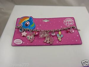 My-little-pony-Charm-Bracelet-pinks-heart-pony-charms