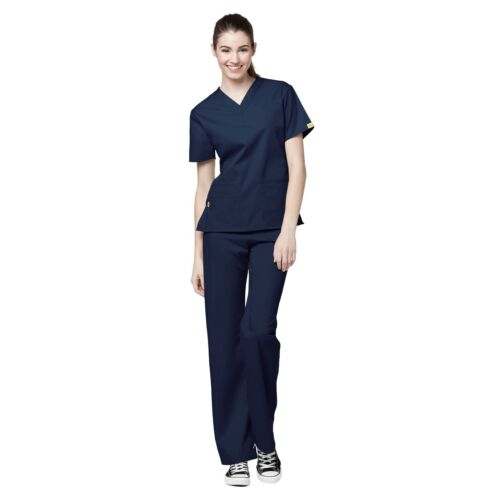 WonderWink Scrubs Set ORIGINS Women/'s V-Neck Top Waistband Pant 6016//5016 Petite