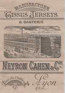 """tissus Jerseys & Ganterie Neyron Cahen & C"" Etiquette-chromo Originale Fin 1800 5dcot1gv-08004040-943830531"
