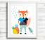 Scandinavian-Woodland-Animal-Prints-Wall-Art-for-Scandinavian-Nursery-Kids-Room thumbnail 3