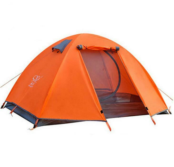 Double-layer 2 Person Windproof imperméable Tent Camping Hiking 3 Season