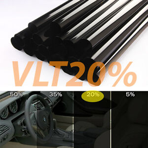 "Wimax Smoke 35/% VLT 24/"" In x 100/' Ft Feet Uncut Roll Window Tint Film Car Home"