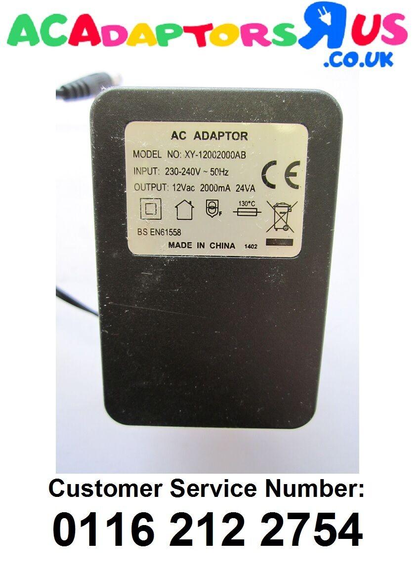 12V 1.2A 14VA Mains AC-AC Adaptor Power Supply for Joden model JOD-4801-056