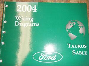 2004 FORD TAURUS MERCURY SABLE FACTORY WIRING DIAGRAMS ...