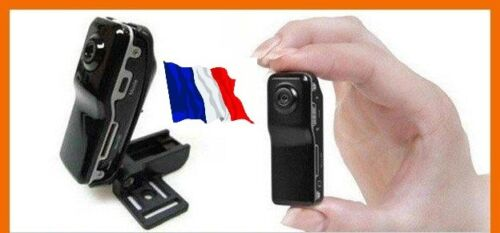 MINI CAMERA ESPION DV SPORT COULEUR NOIR MICRO SD 8 GO