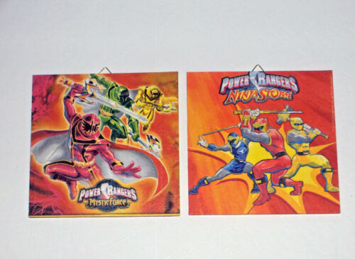 """Power Rangers Bilder,Wand Deko /""""2er Set/"""" trendiges für Kinder-oder Jugendzimmer."""
