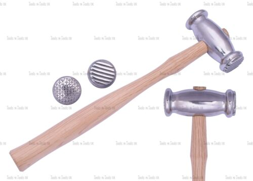 Texturing Hammers Dual Sided Stripe// Weave Jewelry Crafts Metal Smith REPOUSSE
