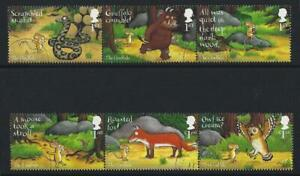 GREAT-BRITAIN-2019-THE-GRUFFALO-SET-OF-6-IN-2-STRIPS-OF-3-FINE-USED